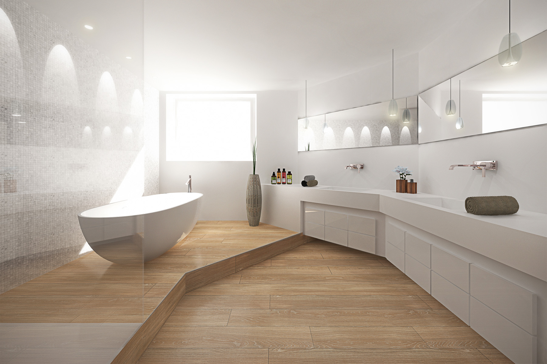 David iltis architecte mulhouse 3d salle de bain blanche for Architecte d interieur mulhouse